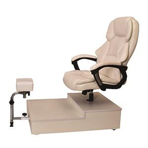 כיסא פדיקור מנהלים + במה שחור/לבן K44