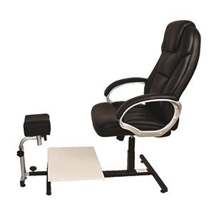 כיסא פדיקור שחור/לבן מנהלים K44